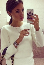 sweater,white,jumper,angora,tight,cropped,beautiful,russian,rolex,cats,angora sweater