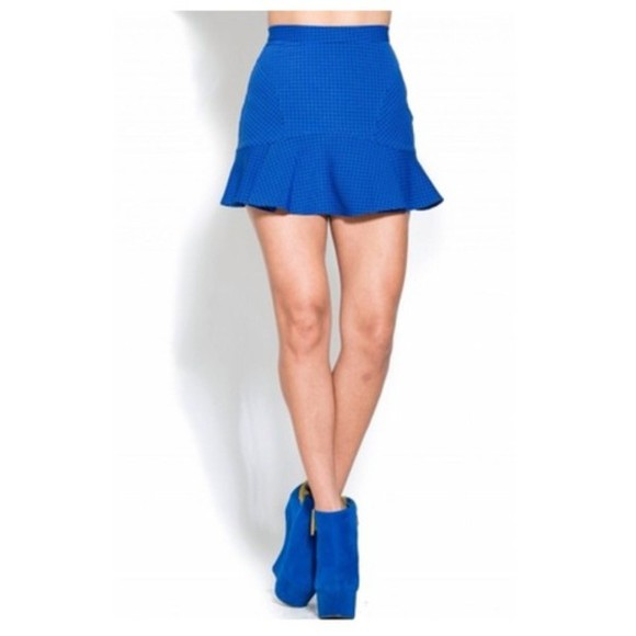 skirt blue skirt mini skirt skater skater skirt