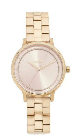 light watch gold pink jewels