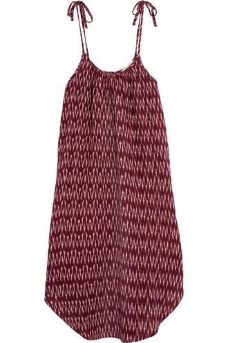 dress cotton burgundy