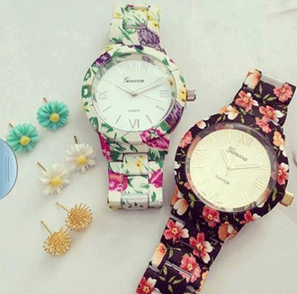 jewels watch floral jewelery flowers geneva bijoux cute