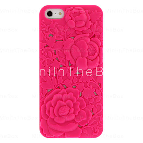 EUR € 2.75 - Novetly conception Solid Color Hard Case-Carved Rose pour iPhone 5/5S (couleurs assorties), livraison gratuite pour tout gadget!