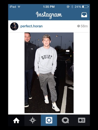 quiet niall horan one direction niall horan sweater one direction sweater