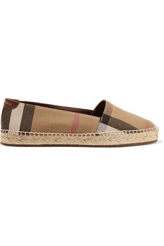 light espadrilles brown shoes