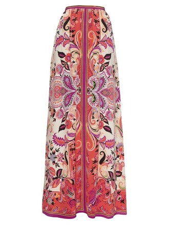 skirt long skirt long print silk paisley