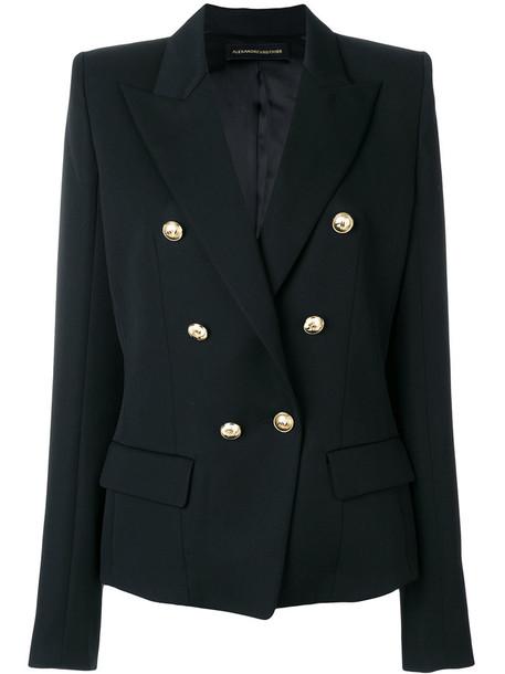 alexandre vauthier blazer women embellished black wool jacket