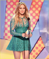 jennifer lopez,teen choice awards,teen choice awards 2014,dress,green  lace,lovely
