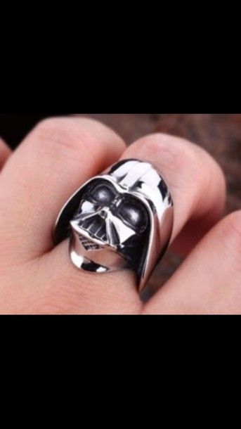 jewels star wars darth vader ring big bulky nerd holiday gift