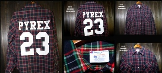 blouse undefined pyrex23 checkered red 23 pyrex dark