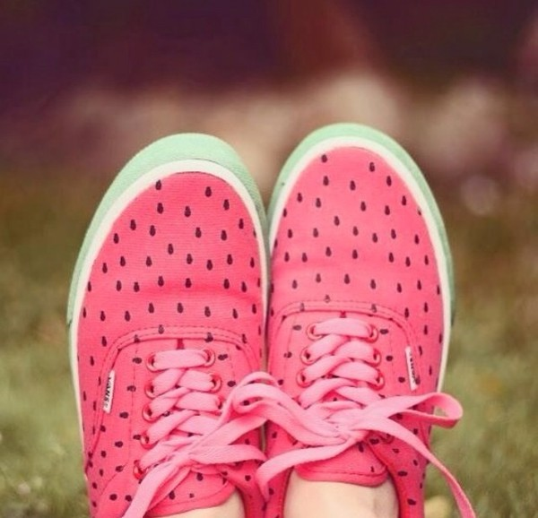 shoes watermelon print vans summer vans watermelon