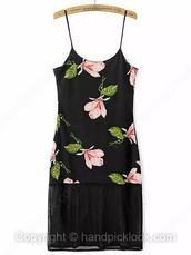 black,black dress,little black dress,dress,floral dress,floral,floral dress pink,black floral dress,pink floral dress,pink flowers,pink,grunge,90s style,sheer,90's fashion,vintage dress,sleeveless dress