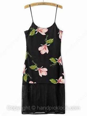 black little black dress dress floral dress floral floral dress short floral dress pink black floral dress pink floral dress pink flowers pink grunge 90s style sheer 90's fashion vintage dress sleeveless dress
