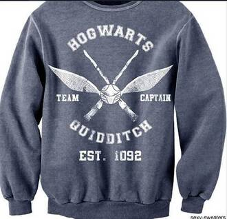 sweater harry potter hogwarts quidditch