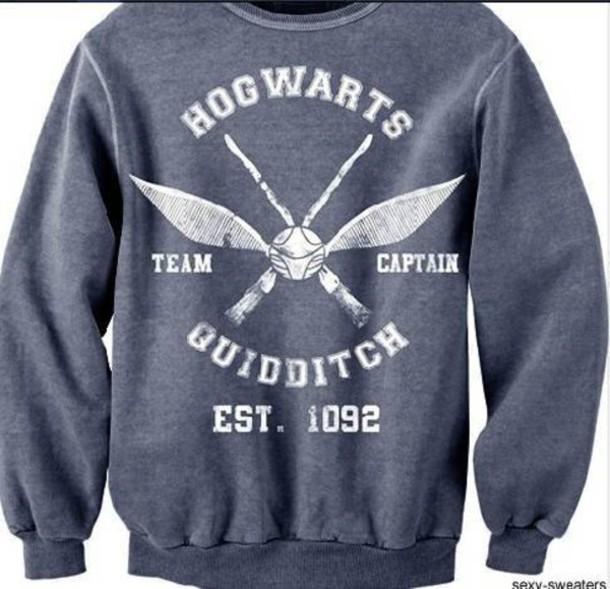 sweater harry potter hogwarts quidditch
