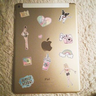home accessory yeah bunny stickers super stickers ipad stickers ipad dog queen pizza macbook sticker