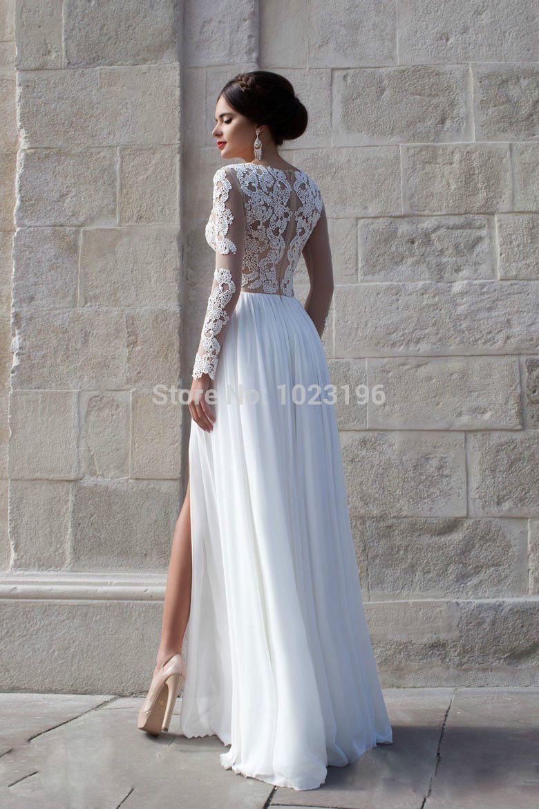 d15d0ca1fb3 Aliexpress.com   Buy Sexy Lace Long Chiffon Evening Formal Party Cocktail  Dress Bridesmaid Prom Gown from ...
