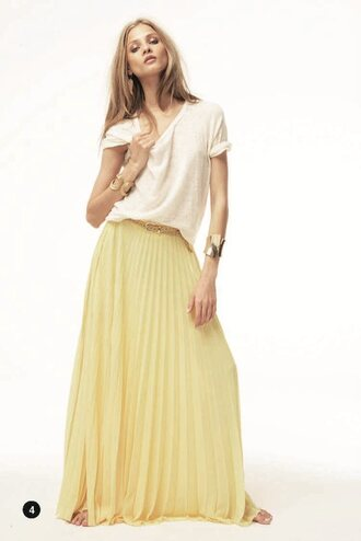 maxi yellow skirt shop for maxi yellow skirt on wheretoget