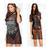 Womens Fish Net Mesh Baggy T-Shirt Dress