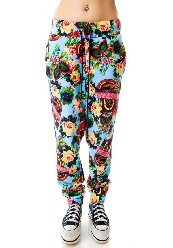 Joyrich Juke Box Floral Harem Pants | Dolls Kill