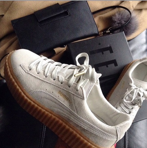 shoes creepers puma suede sneakers white