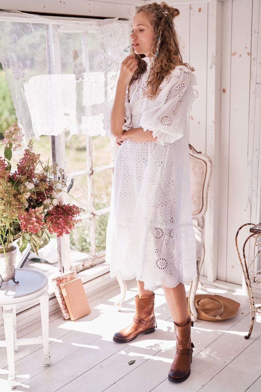 LoveShackFancy Women's Elspeth Midi Dress