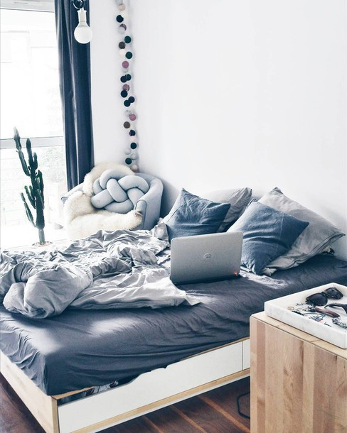 Home Accessory, Tumblr, Tumblr Bedroom, Bedroom, Bedding