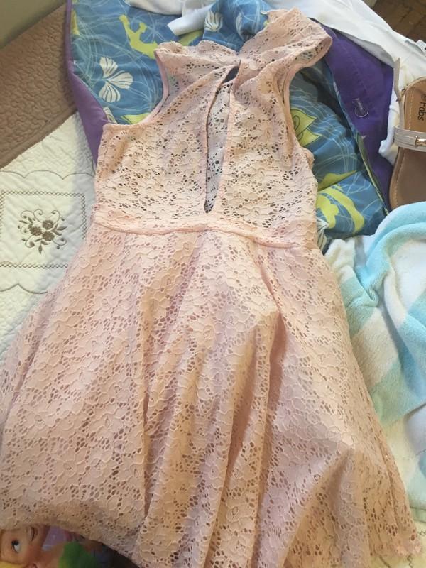 dress pink dress lace dress summer dress