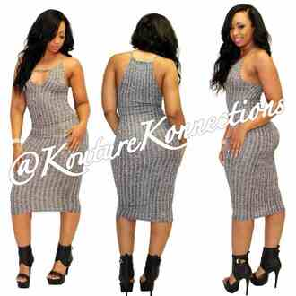 dress grey grey dress midi dress bodycon dress keyhole keyhole dress ribbed