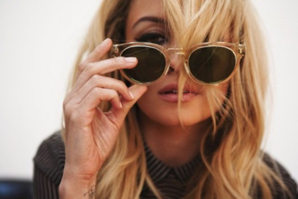 orange sunglasses sunglasses yellow sunglasses nicole richie round sunglasses