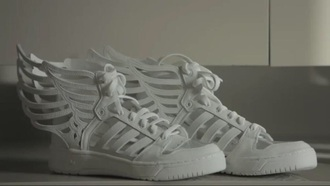 shoes white wings adidas
