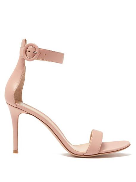 Gianvito Rossi - Portofino 85 Leather Sandals - Womens - Nude