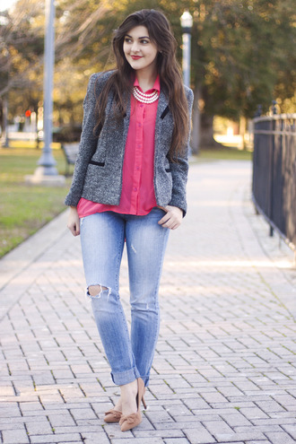 a walk in the park jacket blouse jeans shoes jewels