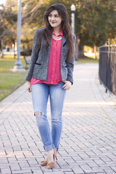 jeans shoes jewels blouse a walk in the park jacket