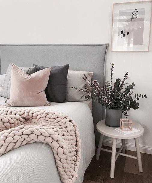 home accessory big knit knit chuncky blanket grey big