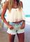 Fashion chiffon tube top