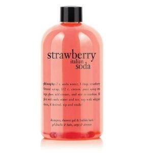 Amazon.com : Philosophy Strawberry Italian Soda Shampoo, Shower Gel & Bubble Bath - 16 fl.oz : Bath And Shower Gels : Beauty