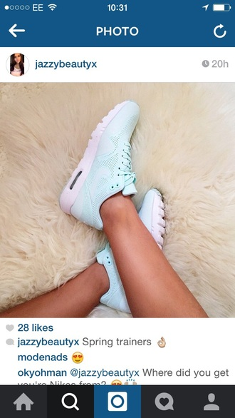 shoes trainers nike running shoes nike shoes nike trainers pink shoes pastel light