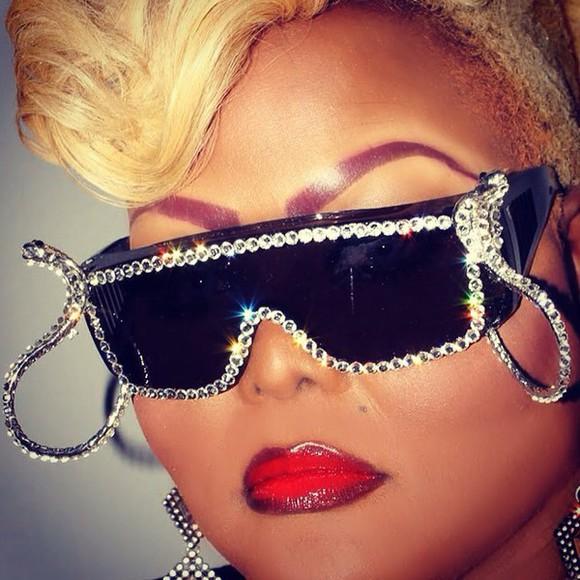 sunglasses eyewear fashion style frames embellished rhinestones