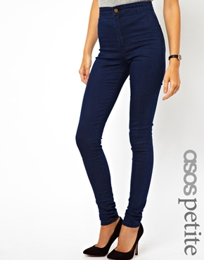 ASOS Petite | ASOS PETITE Uber High Waist Denim Jegging in Indigo at ASOS