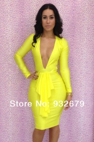 Free shipping  New fashion 2013 bandage dress Backless bodycon dress sexy women 5 Color 3 sizes  more choice dresses LYQ1372-in Dresses from Apparel & Accessories on Aliexpress.com