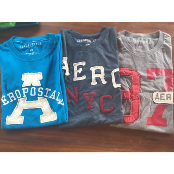 t-shirt camiseta aero azul