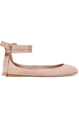 ballet flats ballet flats suede taupe shoes