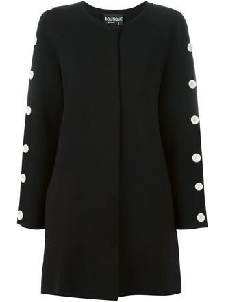 jacket knit women black wool
