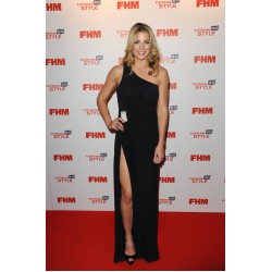 Gemma Atkinson Black One-shoulder Formal Evening Dress FHM's 100 Sexiest Women in the World Party Celebrity Dresses