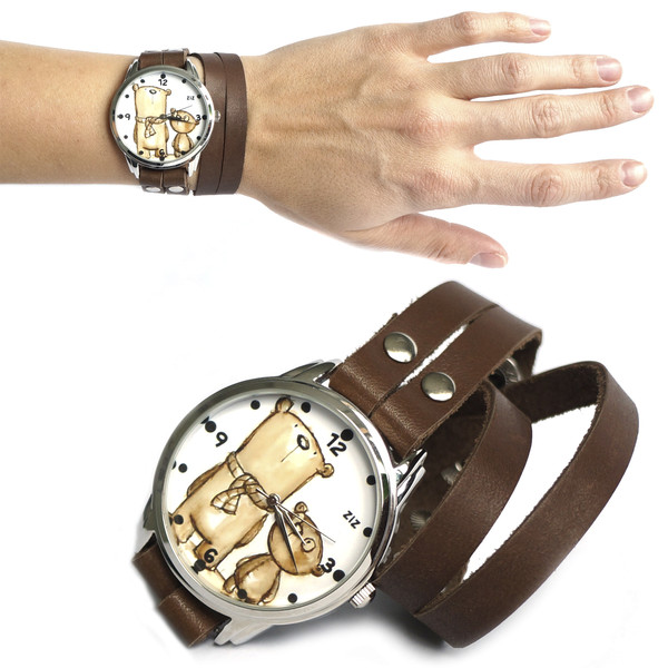 jewels watch watch bear bear brown ziziztime ziz watch