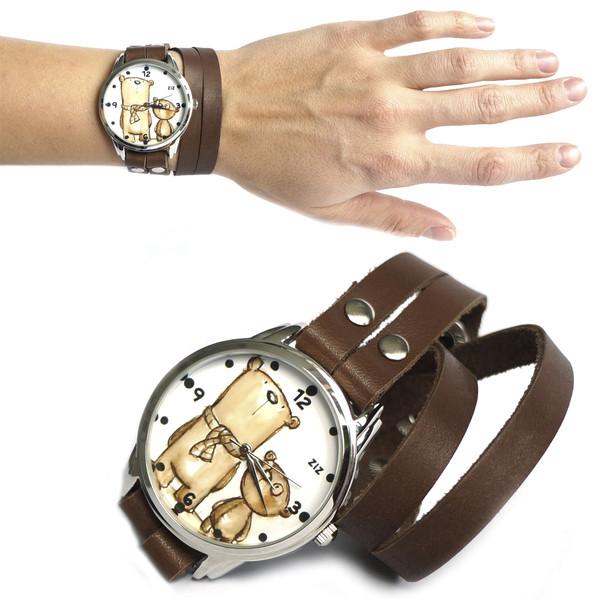 jewels watch watch bear bear brown ziziztime ziz watch
