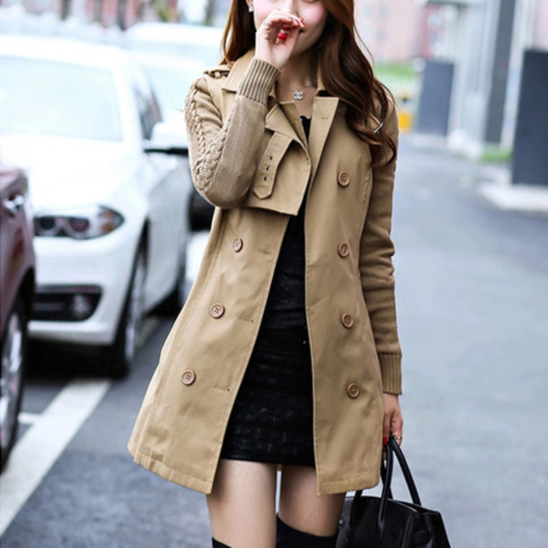 Coat: clothes, fashion, wool coat, trench coat, cardigan, long ...