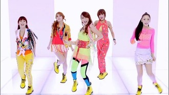 blouse kara step music video neon yellow kpop