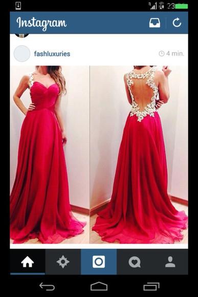 red dress prom dress redandwhite long prom dress
