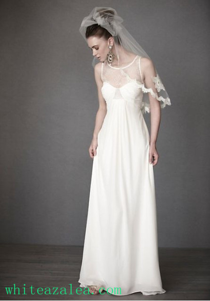 Dress bridal gown wedding clothes vintage wedding dress for Simple vintage wedding dresses